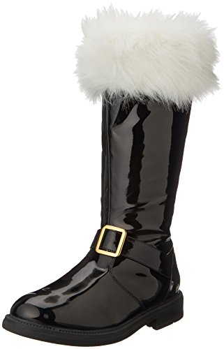 Funtasma Men's Santa-102 Snow Boot, Black Patent, Medium/10-11 M US - Santa Boots