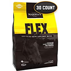 Majesty's Flex Wafers - Superior Horse / Equine Joint Support Supplement - Glucosamine, MSM, Chondroitin, Yucca, Vitamin C - 30 Count (1 Month Supply)