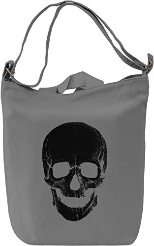 Black Funky Skull Borsa Giornaliera Canvas Canvas Day Bag| 100% Premium Cotton Canvas| DTG Printing|