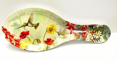 Melamine Spoon Rest New Butterfly Design 9 1//2 Inches Long Cameron 531