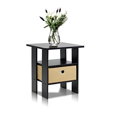 Furinno 11157 End Table Bedroom Night Stand