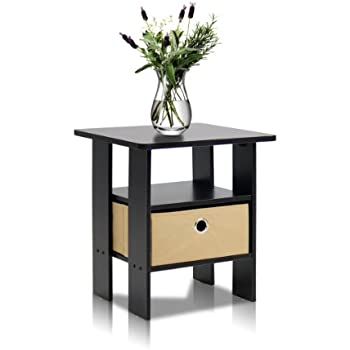 This item Furinno 11157EX BR End Table Bedroom Night Stand w Bin Drawer   Espresso Brown. Amazon com  Furinno 11157EX BR End Table Bedroom Night Stand w Bin