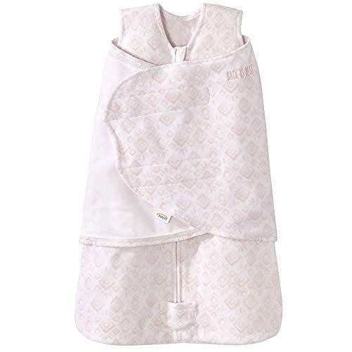 Halo Sleepsack Micro-Fleece Swaddle, Pink Diamond and Leaves, Small