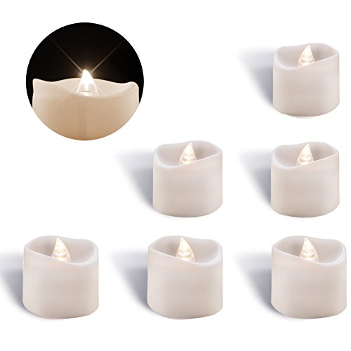 Homemory Flameless Flickering LED Tea Lights Battery Operate