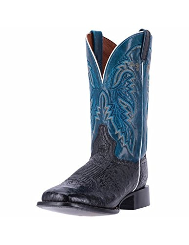 Mens 12' Dan Post - Dan Post Men's 12'' Callahan Ostrich Western Fashion Boots, Black Leather, 10.5 EW