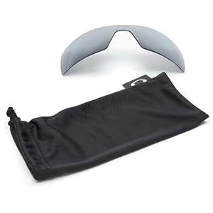 Oakley Oil Rig 16-689 Polarized Rimless Sunglasses,Multi Frame/Black Lens,One Size