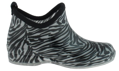 Capelli Neri New York Con Stampa Zebra Lucida Slip-on Jelly Bootie Nero Combo