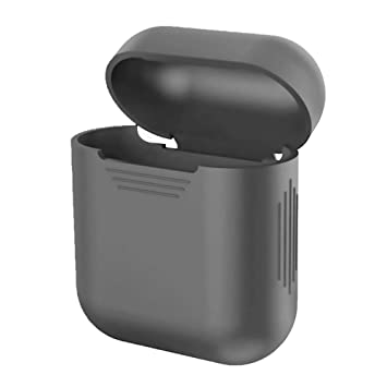 HKEPS AirPods Funda, Silicona Funda Protectora Skin para Apple Airpods Cargador Casos Gris Gris The Length 3cm, The Width 1cm, The Height 4cm