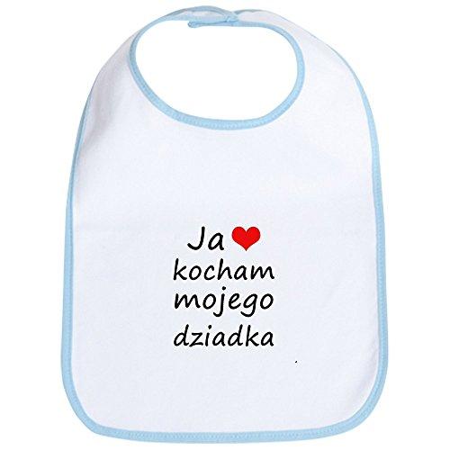 CafePress - I love MY Grandpa (Polish) Bib - Cute Cloth Baby Bib, Toddler - Bib Polish