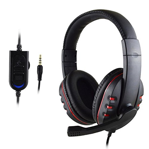 et 3.5mm USB Headphones Noise Cancelling Over Ear Soft Ear Pad Headphones for Computer, Laptop, Tablet, PS4, New Xbox One, Mobile Phone, iPhone, iPad, Mp3, Mp4 ()