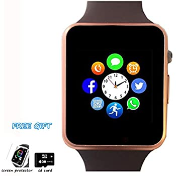 Smart Watch, Bluetooth Smartwatch Phone with Pedometer Camera Call SMS SNS Remind Music Player Color Touch Screen Compatible with Android and iPhone ...