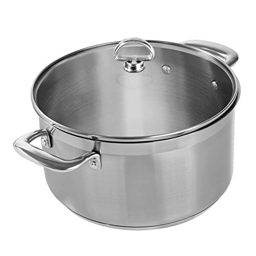 Chantal SLIN32-240 Induction 21 Steel Casserole with Glass Tempered Lid (6-Quart) by Chantal