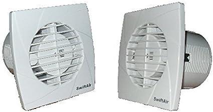 Extracteur Salle Douche Cuisine Ventilateur Standard Minuteur Humidité Fil Jusqu