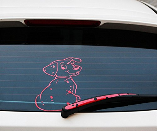 Self Adhesive Graphic (Fochutech Car Auto Body Sticker Tail Dog Rear Windshield Window Wiper Self-Adhesive Side Truck Vinyl Graphics Decals (Red))