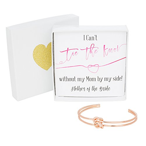 Bridesmaid Gifts Tie The Knot Mother Of The Bride Cuff Bracelet