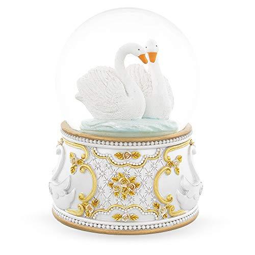 (BestPysanky Two White Swans in Love Snow)