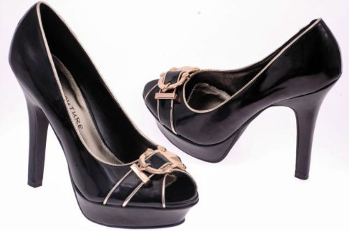 EyeCatchShoes - Emmie Dressy Peeptoe Court Shoes rtzSJ00Y
