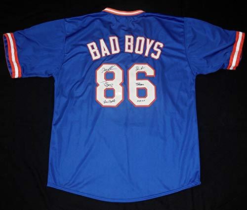 (1986 New York Mets Autographed Jersey (JSA COA) - Dwight Gooden, Darryl Strawberry, Lenny Dykstra!)