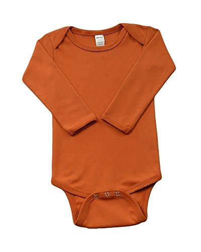 Monag Unisex Baby Bodysuits (6-12M, Texas Orange)