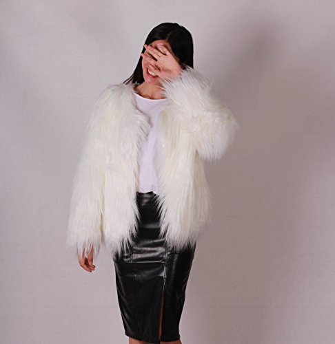 Mayever® Lumières À Chaud Long Fur Orné Fausse Leds Fourrure Clignotantes Lumineux De Manteau rrxqwvpR