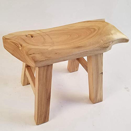 Stools Footstool Work Stool Shower Stool Old Elm Small Bench Change Shoes Primary School Student Household Short Coffee Table Tenon CONGMING (Color : Wood, Size : -