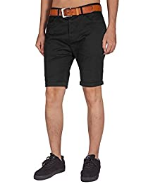 ITALY MORN Men's Flat Front Stretch Chino Shorts