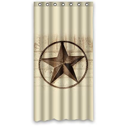 Amazon 36 X 72 Western Texas Star Shower Curtain With 7