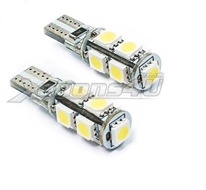 2x T10 501 W5W 8 SMD LED Side Light Parking Bulbs Xenon White 6000K