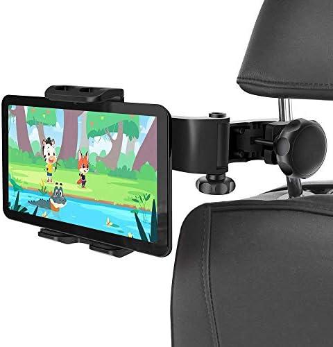 [スポンサー プロダクト]車載 ホルダー タブレット スマホ オーディオ用車載ホルダー マウントホルダー 車後部座席用 強力固定 360度回転 工具不要で取付可能 4インチ~11インチTablet用 スタンド iPhone Samsung Galaxy iPad 2/3/4/mini/air Galaxy Tab/Google Nexusnなどにも対応