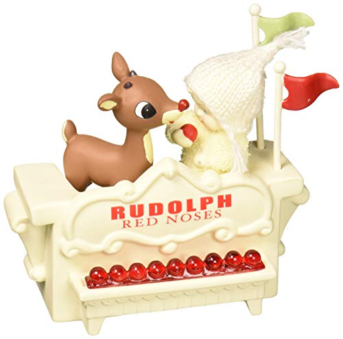 """Department 56 Snowbabies and Rudolph """"Spare Noses"""" Porcelain Figurine, 2.75"""""""