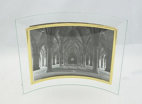Glass Picture Frame 7x5 Gold Border Curved