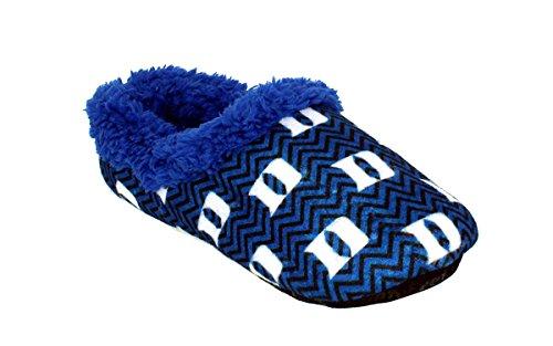 DUK11-3 - Duke Blue Devils - Large - Happy Feet Mens and Womens Chevron Slip On Slippers