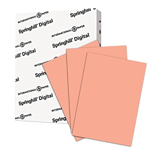 Springhill Colored Paper, Cardstock Paper, Salmon Paper, 90lb Paper, 163 gsm, Letter Size, 8.5 x 11 Paper, 1 Ream / 250 Sheets, Thick Paper, Card Stock Paper (085100R) -