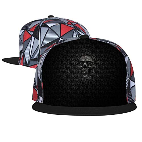 Horrible Skull Unisex Adjustable Hip-hop Hat Snapback Baseball Cap Black (Xhd Card)