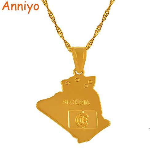 LTH12 Algeria Pendant Necklace Algerians Women Girl,African Items #201010 - Length:60cm Thin Chain
