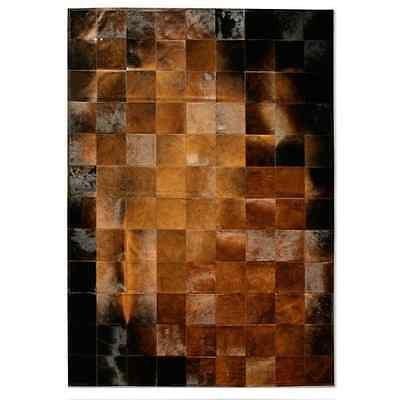 Premiumcowhide New Cowhide Rug Leather. Animal Skin Patchwork Area Carpet (8 x 10)