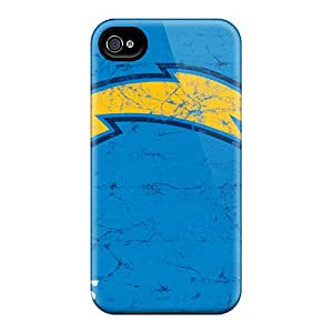 Bumper Hard Phone Covers For Iphone 4/4s With Allow Personal Design Stylish San Diego Chargers Pattern ErleneRobinson