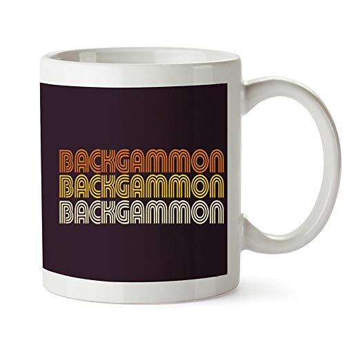 Idakoos Backgammon RETRO COLOR Mug 11 ounces ()