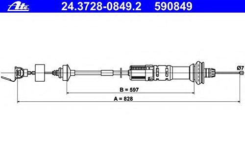 ATE 24.3728-0849.2 Seilzug, Kupplungsbetä tigung Continental AG