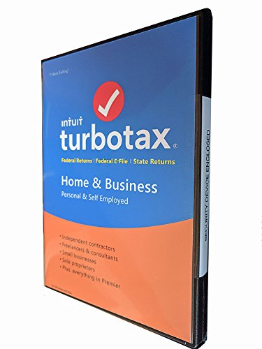 Turbotax Home   Business Tax Software 2017 Fed Efile State Pc Mac  Sealed In Dvd Case