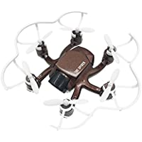 FQ777 126CW Mini RC Quadcopter Drone with 2MP HD FPV Vedio Camera 2.4GHZ 4CH 6-axis Gyro Remote Contro Headless Mode One-key Return Function Nano Hexacopter Quad for Beginners(Brown)