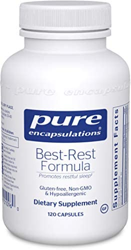 Pure Encapsulations - Best-Rest Formula - Hypoallergenic Supplement for Restful Sleep - 120 Capsules
