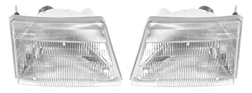 00 Ford Pickup (Headlights Headlamps Left & Right Pair Set for 98-00 Ford Ranger Pickup Truck)