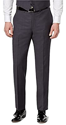 Calvin Klein Extra Slim Fit Grey Neat Flat Front New Men's Dress Pants