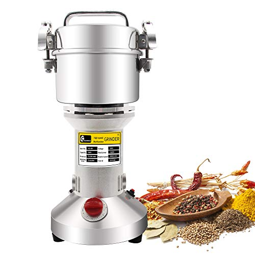 - CGOLDENWALL 300g Electric Grain Mill Spice Herb Grinder Pulverizer super fine powder machine For Spice herbs grains coffee rice corn sesame soybean fish feed pepper medicine 110V
