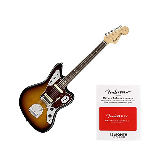 Fender American Original '60s Jaguar Electric Guitar 3-Color Sunburst (SN:V1848390) - Jaguar Sunburst Guitar