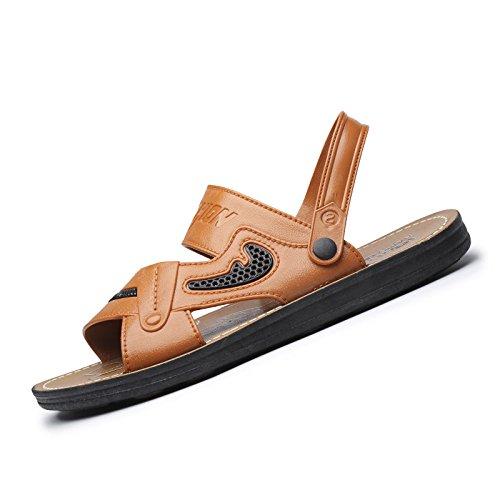 Lässig Und Komfortable Strand Schuhe, Modische Sommer Zeigen Männer Ist Cool, Hausschuhe, Bruttogewicht: 0.6Kg,Brown,Eu41