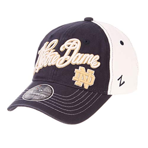 Zephyr NCAA Notre Dame Fighting Irish Womens Vogue 2Vogue 2 Women's Relaxed Cap, Team Color/White, Adjustable