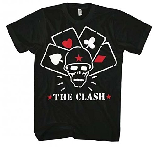 The Clash - Mens Straight to Hell T-Shirt in Black, Size: X-Large, Color: Black
