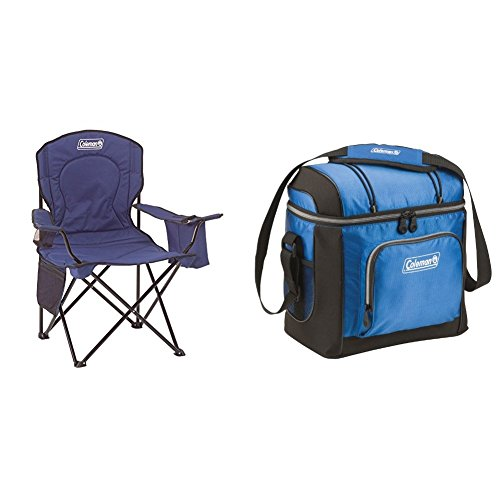 Coleman Oversized Quad Chair with Cooler w/ Coleman 16 Can Cooler